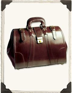 ~ Living a Beautiful Life ~ Leather Doctor's Bag from Victorian Trading Co. $119.95