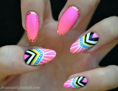 ImageFind images and videos about pink, nails and nail art on We Heart It - the app to get lost in what you love. Get Nails, Love Nails, Pretty Nails, Hair And Nails, Sassy Nails, Pink Nails, Pedicure Designs, Nail Art Designs, Tumblr Nail Art