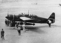 The Aichi B7A Ryusei, carrier-borne torpedo-dive bomber of the Imperial Japanese Navy Air Service.