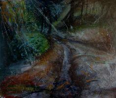 LUCI NELLA SELVA, acrilico su tavola cm. 85 x 100 - 2013