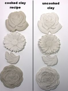 DIY..HYBRID POLYMER PAPERCLAY.......1/2 cup joint compound (I used SHEETROCK® Brand Plus 3™ Lightweight All-Purpose Joint Compound) 1/2 cup white glue (Elmer's Glue All, PVA glue , not washable school glue) 1/2 cup cornstarch 1 Tablespoon white vinegar (this is a preservative – if you plan to use the clay in a day or two you can skip it) Baby oil (aka mineral oil-any brand) Liquid Starch (I used Sta-flo brand but you can make your own from cornstarch and water, recipe here)
