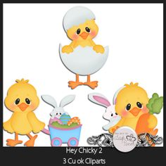 Hey Chicky 2 | CU/Commercial Use #digital #scrapbook design tools at CUDigitals.com #digitalscrapbooking