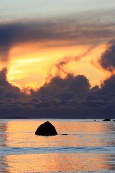 Flaming Sunset - Ireland