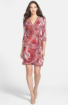 BCBGMAXAZRIA Print Jersey Wrap Dress available at #Nordstrom