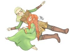 A little nap after running ... life in the forest seems still to be quiet outside the palaces of King Thranduil ...