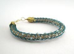 Armband ~ Messing/Türkis