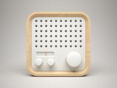 Braun styled Radio icon