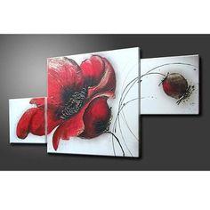 Cuadros Modernos Flores Oferta ! Diseño 1+1 - $ 699,00 en MercadoLibre