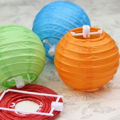 "Paper Lanterns 30pcs 4"" Ball Candy Color Chinese Paper Lanterns Wedding Party Decoration Wholesale 