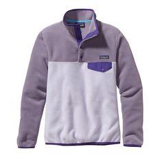 Patagonia Women\'s Lightweight Synchilla\u00AE Snap-T\u00AE Fleece Pullover - Tundra Purple TDRP