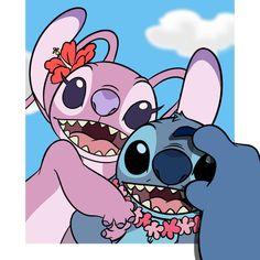 lilo y stitch Lilo Stitch, Angel Lilo And Stitch, Lilo And Stitch Quotes, Lelo And Stitch, Cute Stitch, Disney Stitch, Arte Disney, Disney Love, Toothless And Stitch