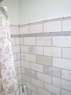 Home Depot Greecian White Tiles Cut Down To Love The Marble With Dark Grout