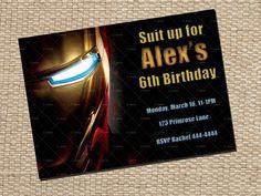 Iron Man Birthday Invitation Card Printable. $7.00, via Etsy.