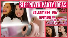 Sleepover Party Ideas for Valentines Day- DIY Room Decor, Gifts, Treats, and Activities Sleepover Activities, Sleepover Party, Activities To Do, Party Themes, Party Ideas, Girl Themes, Tween Girls, Valentine's Day Diy, Diy Room Decor