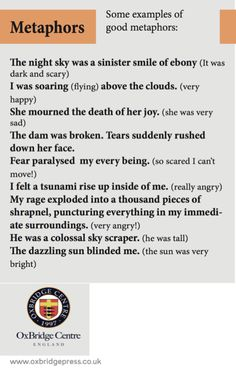 Creative writing topic of the day: Metaphors. They add depth and vibrancy to writing. It is figurative language to compare something to something else to emphasize the feeling behind it. There are well known ones but you can alway make up your own. Here are a few to consider #study #education #essaywriting