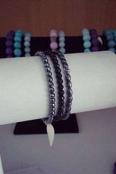 Fashion bracelets gemstones silver chic