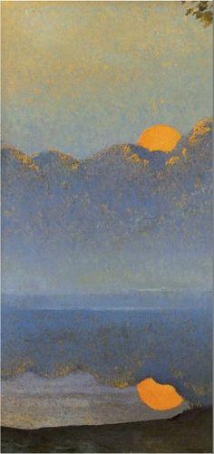 Muse at Sunrise by Alphonse Osbert, 1918 ☀