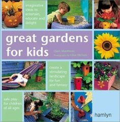 """""""Gardens can be great getaways for kids, and with these 50 colorfully illustrated, simple projects even the smallest lawn can become a children's paradise. Without compromising on safety, your pocketbook, or the garden's finished look, you can build brilliant hideaways such as flower teepees and washing line tents or construct innovative play structures including mindboggling mazes and climbing walls."""""""
