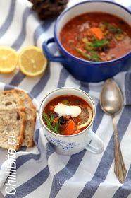 najlepsza solianka mięsna rosyjska Chili, Drink, Eat, Food, Stew, Beverage, Chile, Chilis, Eten