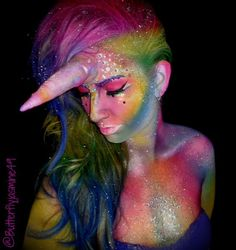Best representation descriptions: Related searches: 10 Year Old Unicorn Costume Makeup Ideas,DIY Unicorn Costume,Unicorn Face Makeup,Cool U. Unicorn Halloween Costume, Best Friend Halloween Costumes, Cat Halloween Makeup, Halloween Make Up, Halloween Ideas, Halloween 2016, Disney Makeup, Unicorn Makeup, Fantasy Makeup