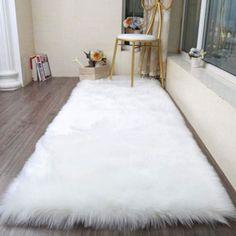 Room Ideas Bedroom, Living Room Bedroom, Rugs In Living Room, Bedroom Rugs, Bedrooms, Bedroom Decor, Plush Carpet, Rugs On Carpet, Fur Carpet