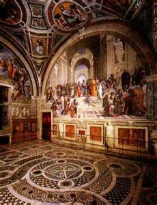 The School of Athens by Raphael in the Vatican Museums. The floors are almost as beautiful as the frescoes!