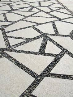large triangle concrete pavers with grass - Google Search