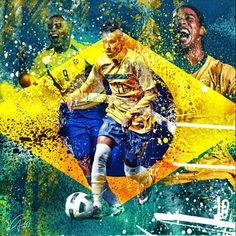 Neymar, the new face of Brazil. Can they win it at home? Ronaldo, Good Soccer Players, Best Football Players, Football Accumulator, Messi Neymar, Soccer Art, Soccer Pictures, Soccer Drills, Sports Graphics