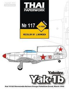 Yakolev Yak-1b (Red 10) Free Aircraft Paper Model Download…