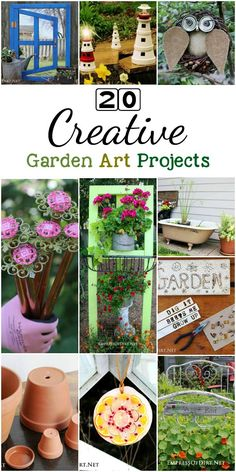There are the top creative garden art projects for the year. Whether you want to repurose old materials, create something unique to grow or display plants, or get crafty with natural treasures, there's plenty of ideas here. Diy Garden Projects, Garden Crafts, Art Projects, Unique Gardens, Amazing Gardens, Recycled Garden Art, Outdoor Crafts, Easy Garden, Diy Arts And Crafts