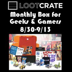 Loot Crate Monthly Box Giveaway! 09/13 - Tales From A Southern Mom