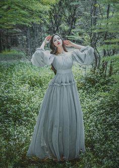 edf3b920f42 Summer Lantern Sleeve Off Shoulder Mori Girl Lolita Slash Neck Vintage  Princess Long Dress Fairytale for Photography-in Dresses from Women s  Clothing ...