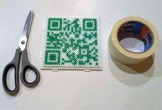 TUTO perles à repasser: la méthode du masking tape