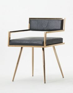Modrest Rosario Modern Black & Rosegold Dining Chair - Dining Chairs - Dining