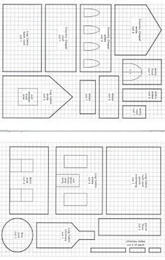 Templates for Putz Houses Gingerbread Gingerbread House Template Printable, Gingerbread House Patterns, Gingerbread House Parties, Gingerbread Village, Christmas Gingerbread House, Christmas Templates, Christmas Home, Christmas Cookies, Christmas Holidays