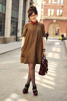 Streetstyle Fashion - Etoile Isabel Marant Dress - Click for More...
