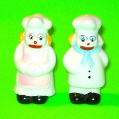 Clown Chefs Salt & Pepper Shakers