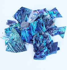 This bag of NZ Paua Shell Chips is perfect for small craft projects like mosaic, jewellery, wall hangings, embellishments, and scrapbooking. Paua Shell, Abalone Shell, Wedding Favours, Wedding Ideas, Craft Work, Shades Of Blue, Purple, Pink, Craft Projects