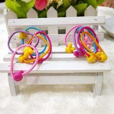 TS 50 pcs High Quality Carton Round Ball Kids Elastic Hair bands Elastic Hair Tie Children Rubber Hair Band