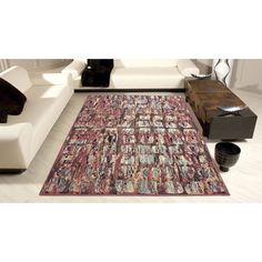"Nourision MDS03 7'10""X10'6"" Red Area Rug"