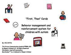 """First, Then"" Cards - Behavior Management for Children wit"