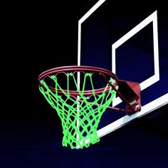 Glow in the dark Basketball Net for late night bball games