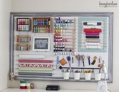Display Crafting Materials on a Convenient Pegboard. | Community Post: 19 Insanely Clever Organizing Hacks