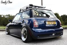 Mini cooper lowered but I would take off the rack