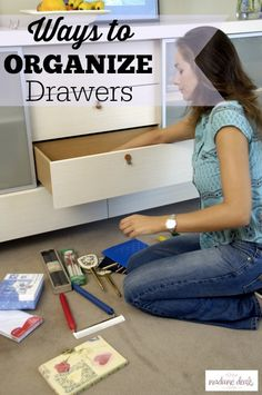 Easy Ways to Organize your Drawers so they stay clean and you can find what you need. This is the best way to save time and money.