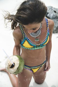 Kiwi bikini #swimwear