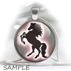 """Horses silhouettes - Digital bottle cap images - 1'' circles, 25mm, 30mm, 1.25"""", 1.5"""" for Jewelry Making, BUY 2 GET 1 FREE by BonCraft on Etsy"""