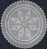 Vintage Crochet PATTERN Star Filet Doily Motif StarFiletDoily