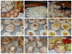 Plnené šampiňóny s vajíčkom a slaninkou