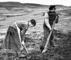 Old Photograph Crofting Isle Of Skye Scotland